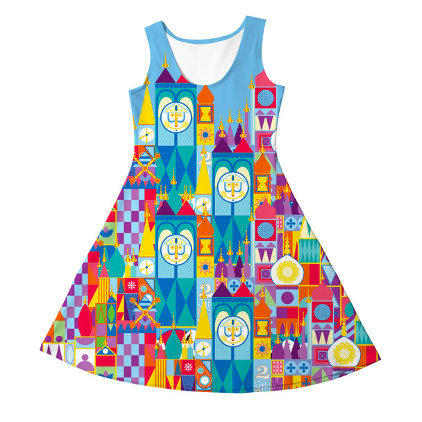 Girls Sleeveless Dress - Its A Small World Disney Parks Inspired