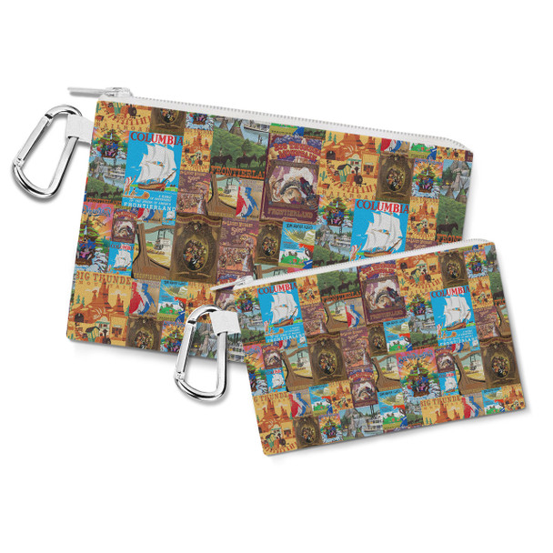 Canvas Zip Pouch - Frontierland Vintage Attraction Posters
