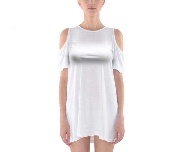 Shoulder Cutout Tunic Dress