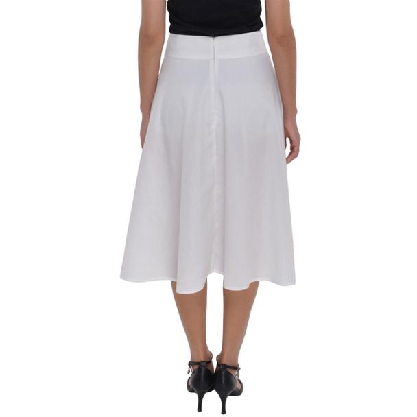 Zippered Midi Skirt