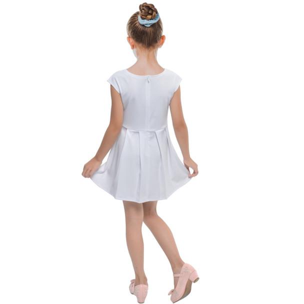 Girls Cap Sleeve Pleated Dress
