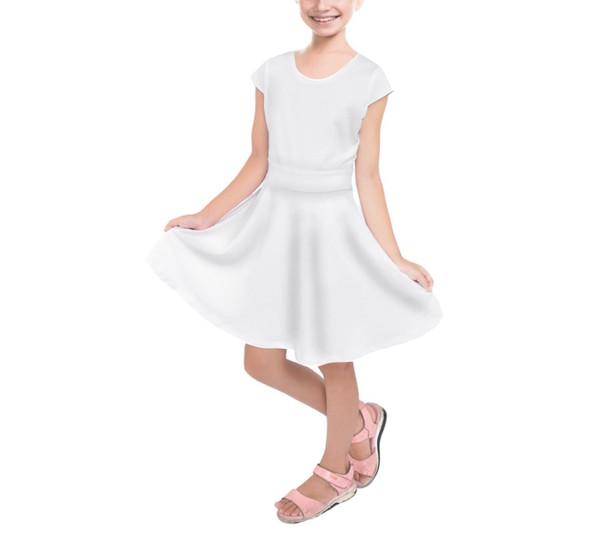Girls Short Sleeve Skater Dress