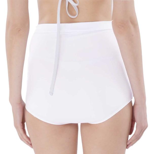 Super High-Waisted Ruched Bikini Bottoms