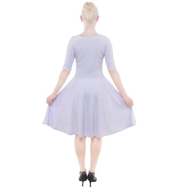 Quarter Sleeve A-Line Dress