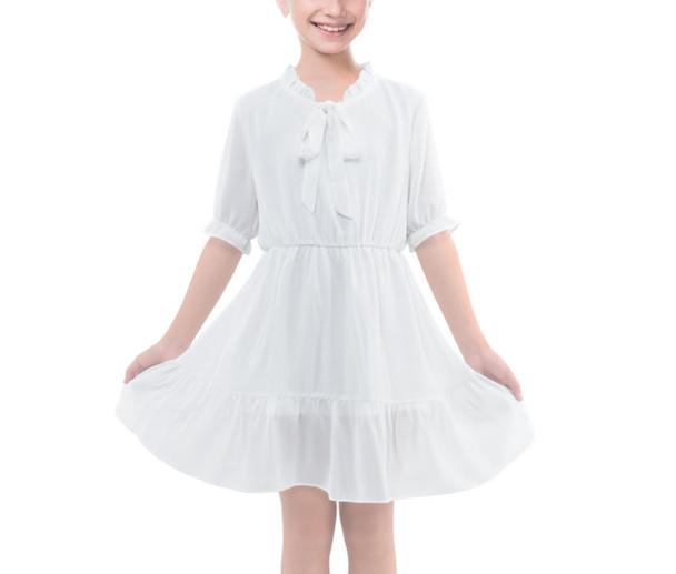 Girls Frilly Chiffon Dress