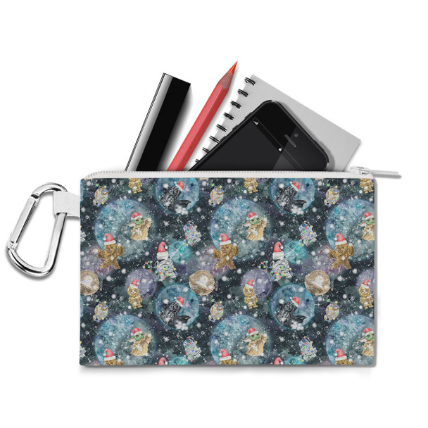 Canvas Zip Pouch - A Christmas Far Far Away