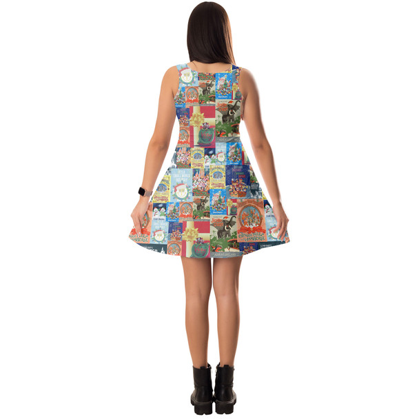 5XL Holiday Attraction Posters Disney Parks Short  Summer Styles Dress in XS