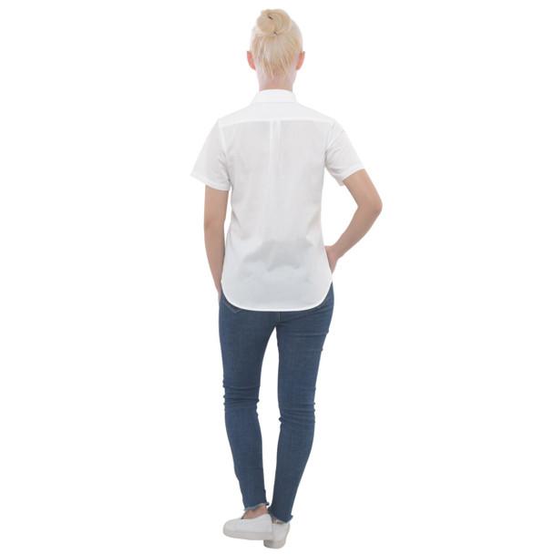 Women's Button Down Short Sleeve Pocket Shirt