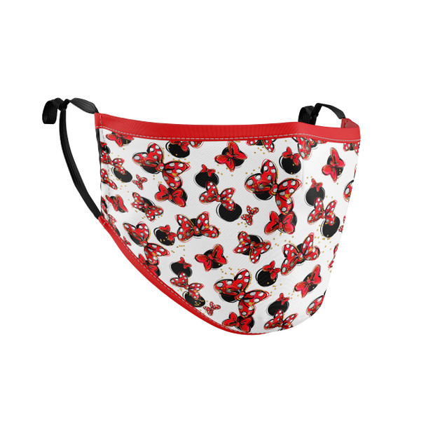 Fitted Face Mask with 50 filters - Minnie Bows and Mouse Ears