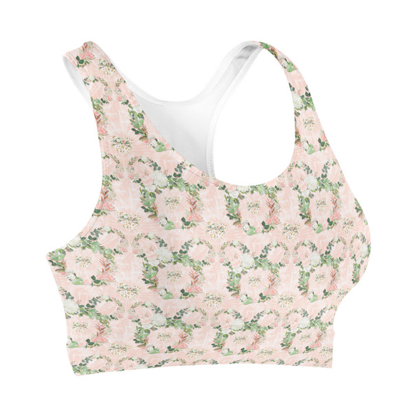 Sports Bra - Floral Minnie Wreaths