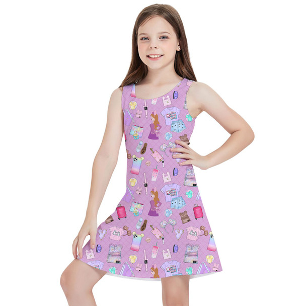 Girls Sleeveless Dress - Disney Fashionista