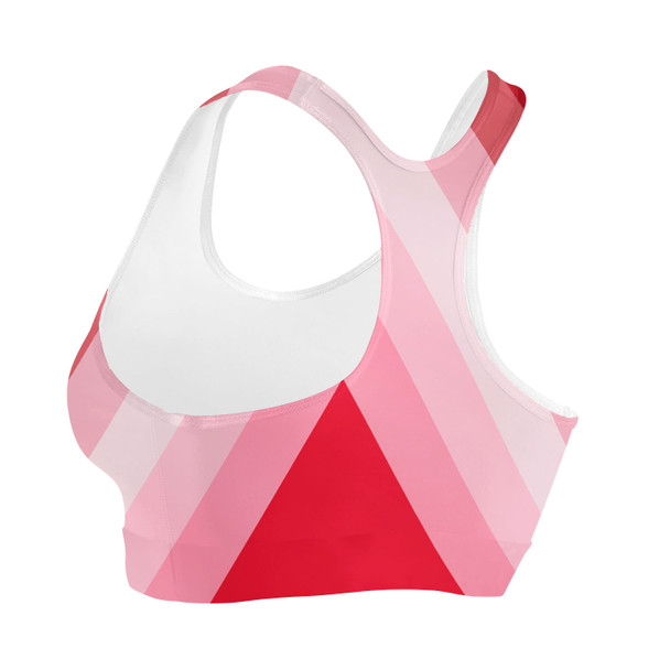 Sports Bra - The Candy Cane Wall