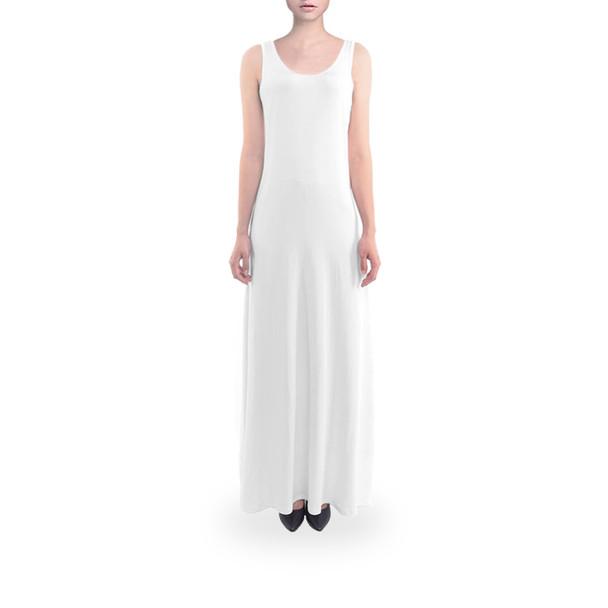 Sleeveless Flared Maxi Dress