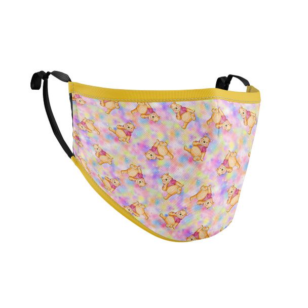 Fitted Face Mask with 50 filters - Watercolor Pooh Bear