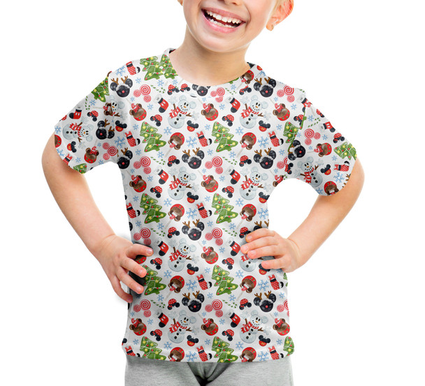 Youth Cotton Blend T-Shirt - Mouse Magic Christmas