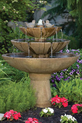 Tranquillity Spill Fountain With Birds 48 inch