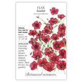 Scarlet Flax Heirloom Seeds Heirloom