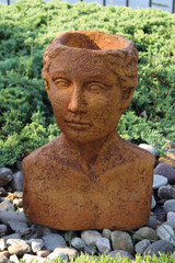 Bust Planter Woman 16 inch