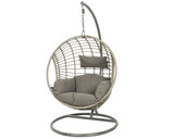 Patio Seating - Hanging Chair London Grey With Sesame Cushion - 72 inch