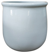 Glazed Ceramic Sack Planter White - 16 inch