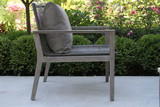 Patio Seating - Grey Eucalyptus Rope Lounger With Cushion