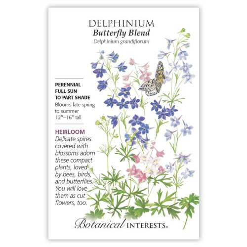 Butterfly Blend Delphinium Seeds Heirloom