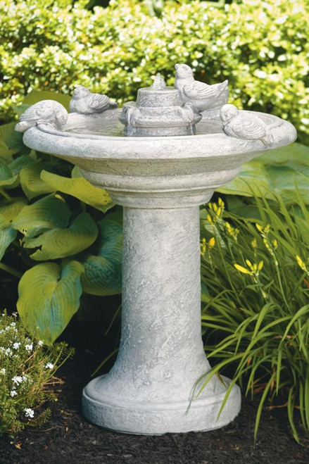 Birds Of A Feather Fountain 35 inch