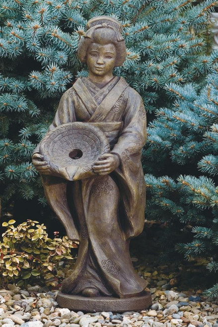 Oriental Girl with Dish Plumbed