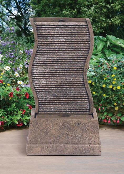Curved Water Wall Fountain 34 inch