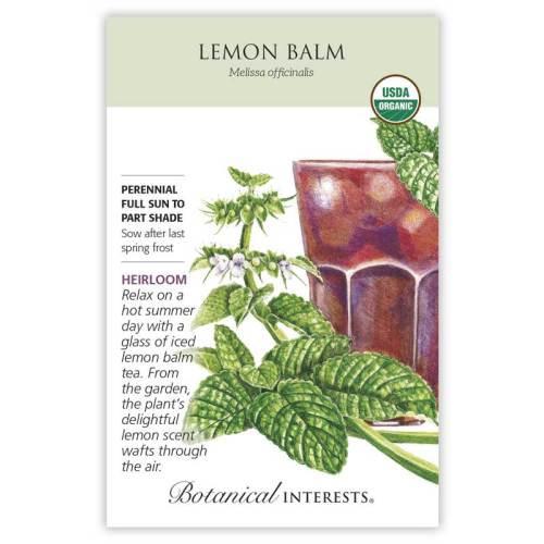 Lemon Balm Seeds Organic Heirloom
