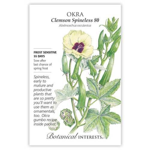 Clemson Spineless 80 Okra Seeds