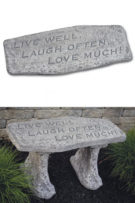 Bench Live Well Laugh Oen