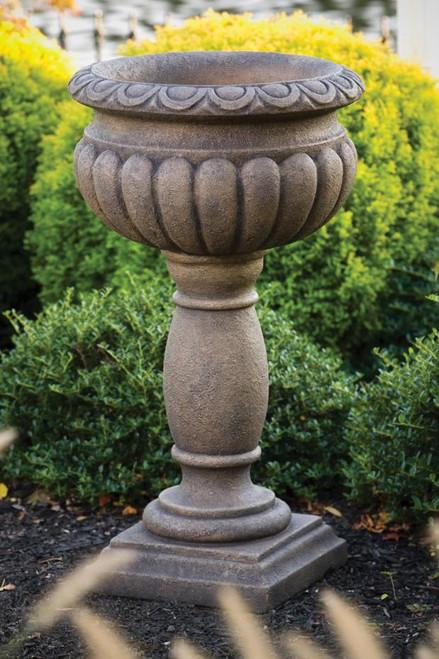 Egg and Dart Urn On Pedestal 33 inch