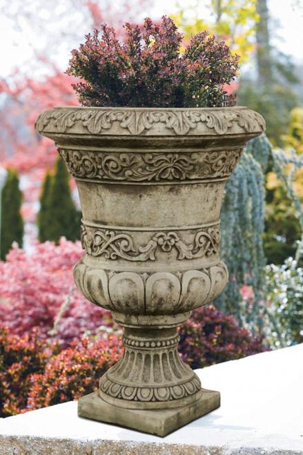Scroll Leaf Urn 36 inch