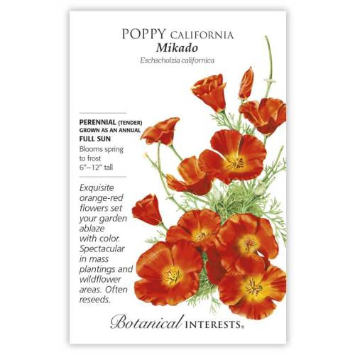 Mikado California Poppy Seeds