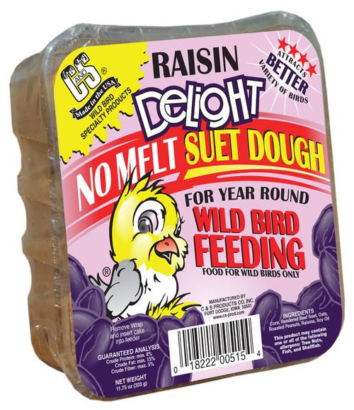 Raisin Delight No Melt Suet Dough - 11.75 oz