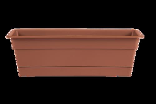 Bloem Dura Cottta Window Box Terra Cotta Plastic - 24 inch