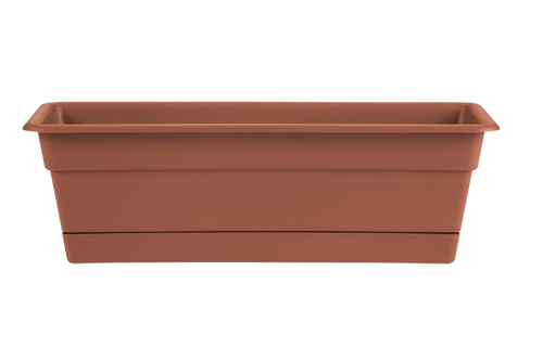 Bloem Dura Cotta Window Box Terra Cotta Plastic - 30 inch