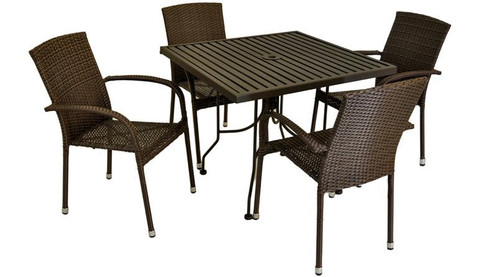 Patio Dining - Meadoweave 5pc Dining Set