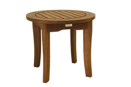 Patio Seating - Eucalyptus Round End Table - 20 inch