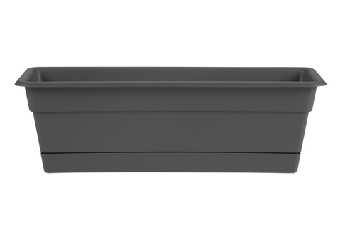 Bloem Dura Cotta Window Box Charcoal Plastic - 24 inch