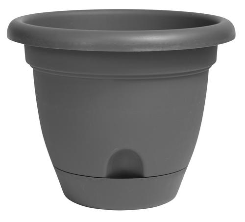 Bloem Lucca Planter Charcoal Plastic - 16 inch
