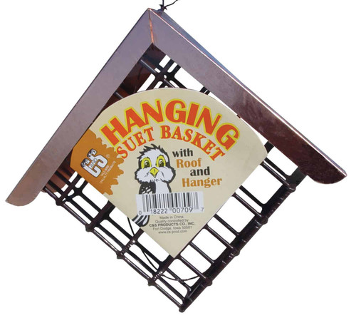 C&S Hanging Suet Basket With Roof And Hanger