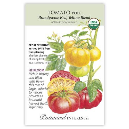 Brandywine Red & Yellow Blend Pole Tomato Seeds Organic Heirloom