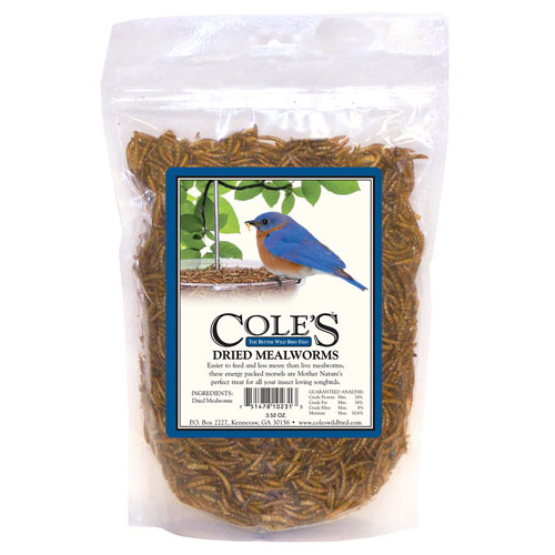 Coles Dried Mealworms - 3.5 oz