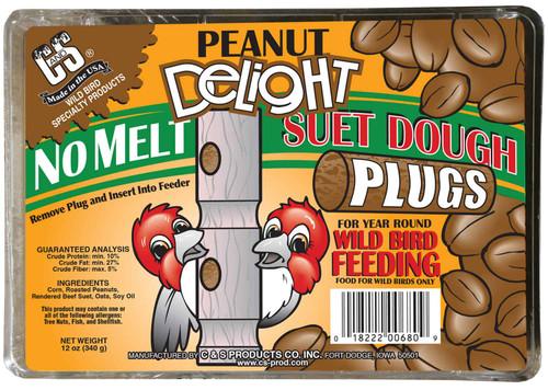 Peanut Delight No Melt Suet Dough Plugs - 12 oz