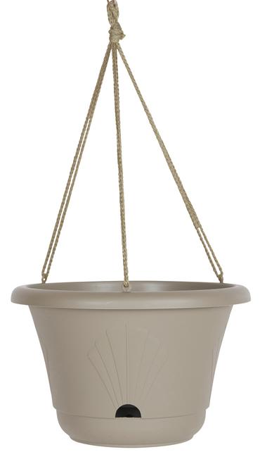 Bloem Lucca Hanging Basket Taupe Plastic