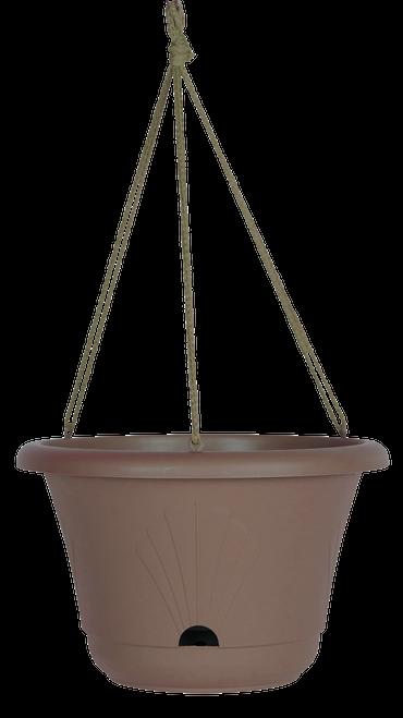 Bloem Lucca Hanging Basket Chocolate Plastic