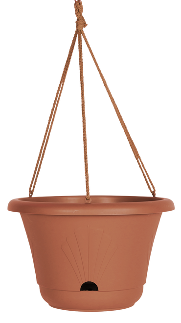Bloem Lucca Hanging Basket Terra Cotta Plastic