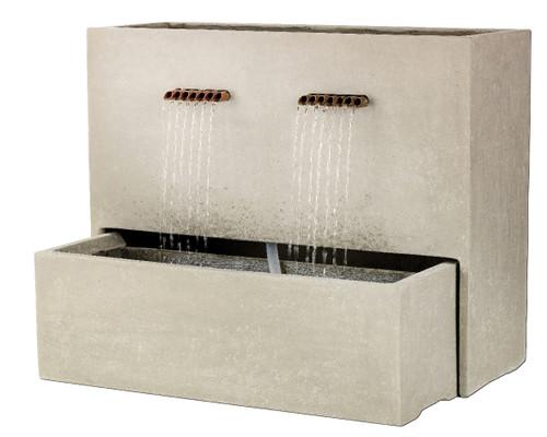 Lightweight Rectangle Grey Spill Fountain Wide